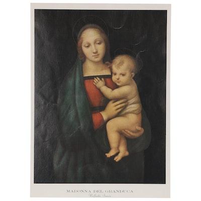 "Offset Lithograph After Raphael ""Madonna del Granduca"""