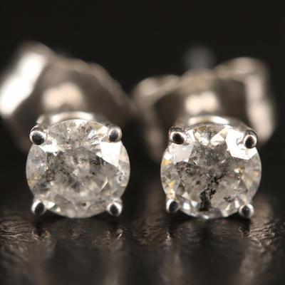 10K 0.43 CTW Diamond Solitaire Earrings