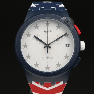 Swatch Free & Brave 2018 U.S. Olympic Team Chronograph Wristwatch