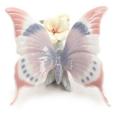 "Lladró ""A Moment's Rest"" Porcelain Butterfly Figurine"