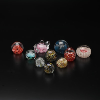 Dynasty Gallery and Others Art Glass Paperweights