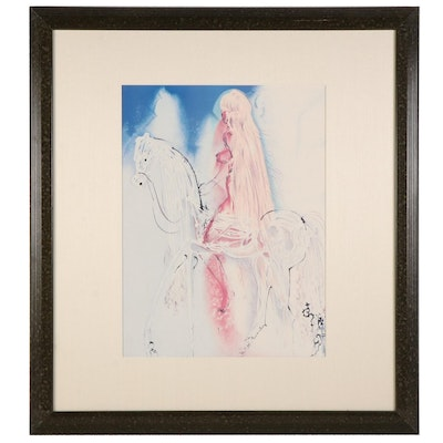 """Offset Lithograph After Salvador Dalí """"Lady Godiva,"""" Late 20th Century"""