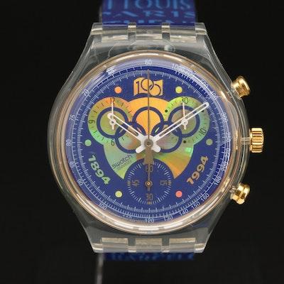 Swatch I0C 100 Years Chronograph Wristwatch