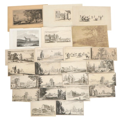 Sébastien Leclerc Topographical and Colloquial Engravings