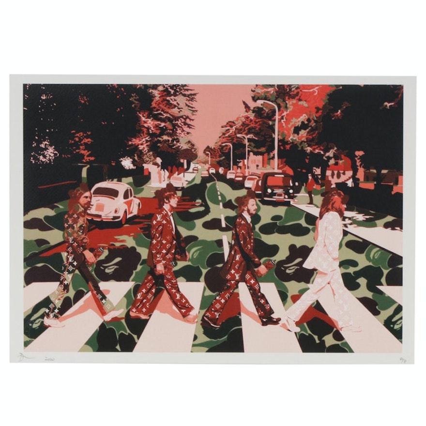 Death NYC Pop Art Beatles Crossing Graphic Print, 2020