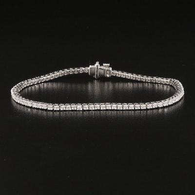 14K 2.00 CTW Diamond Line Bracelet with IGI Report