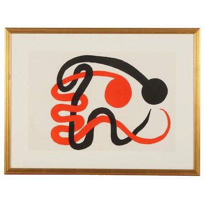 """Alexander Calder Double-Page Color Lithograph for """"Derrière le Miroir,"""" 1973"""