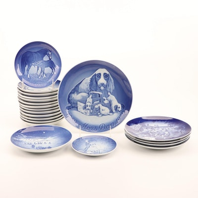 Bareuther, Bing & Grøndahl, and Other Porcelain Collector Plates