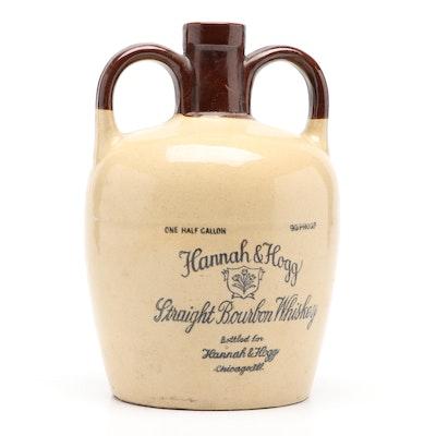 Hannah & Hogg Straight Bourbon Whiskey Jug