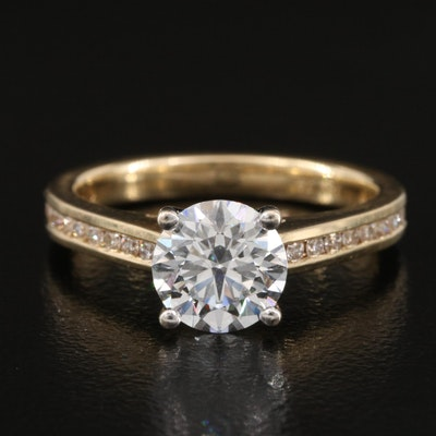 14K 1.49 CTW Diamond Ring with IGI Report