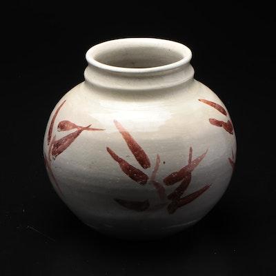Studio Pottery Vase, Mid-20th Century