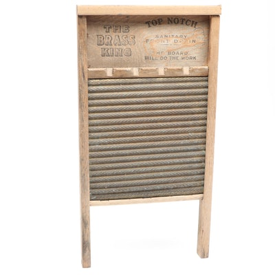 National Washboard Co. Brass and Wood Washboard No. 801