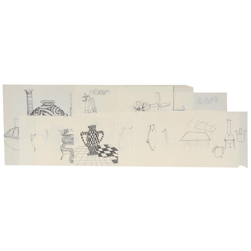 Sherrill Eskew Massey Pen & Ink Studies