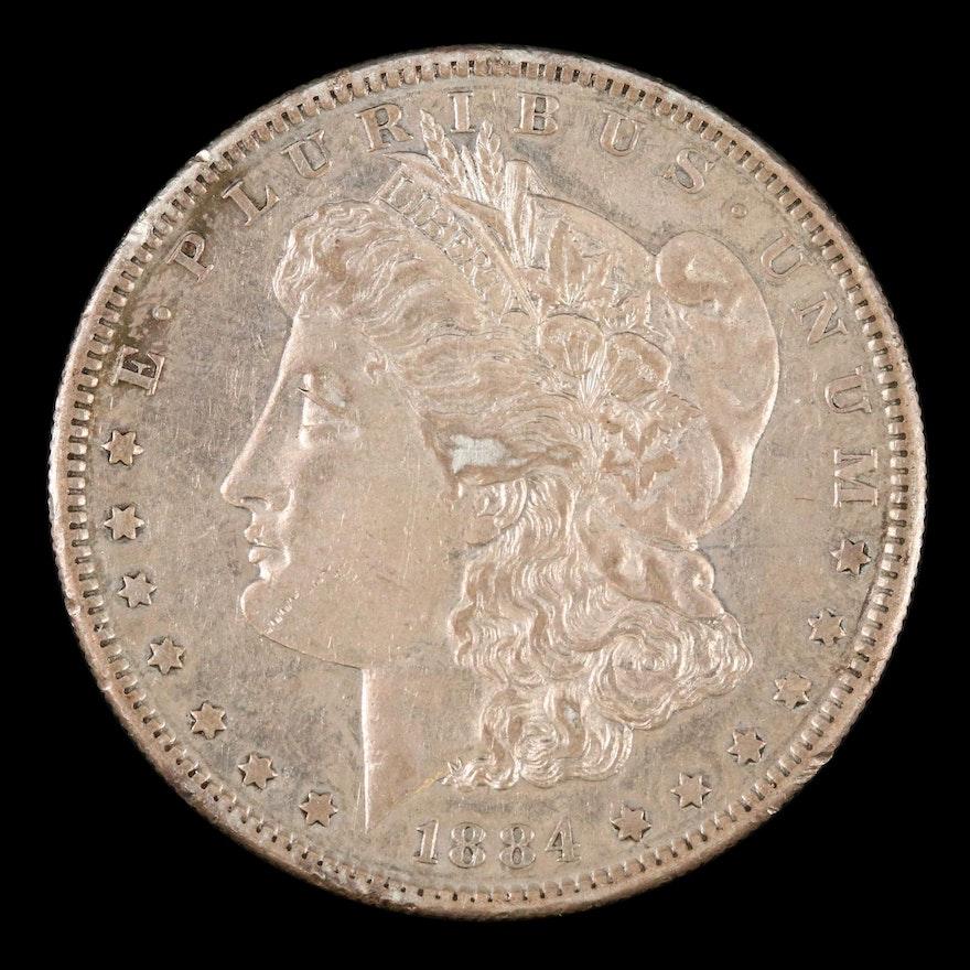 Toned Better Date 1884-S Morgan Silver Dollar