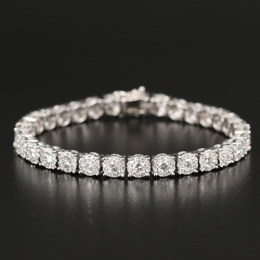14K 7.00 CTW Diamond Link Bracelet