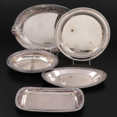 """Wm. Rogers """"Wellington"""" and Other Silver Plate Serving Pieces, Vintage"""
