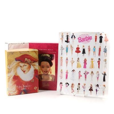 Mattel Barbie Dolls Including Illusion, Jewel Princess, and More