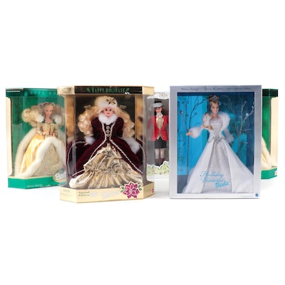 Mattel Barbie Dolls Including Winners Circle, Holiday Visions, and More
