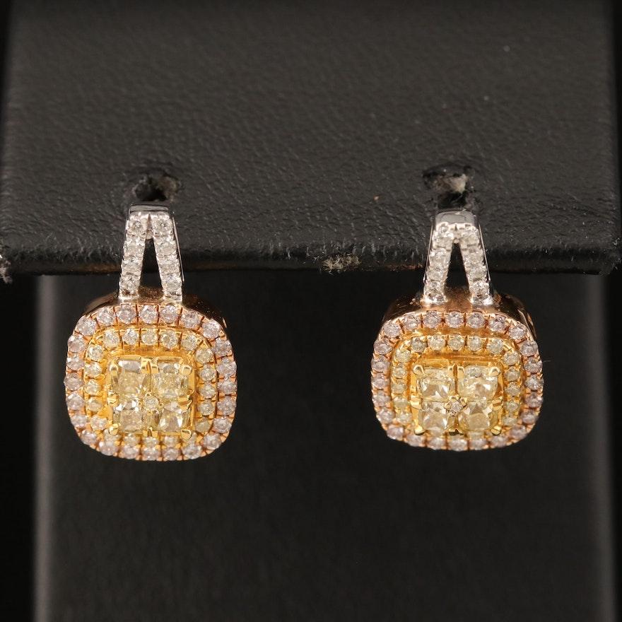Damas 18K 1.04 CTW Diamond Earrings