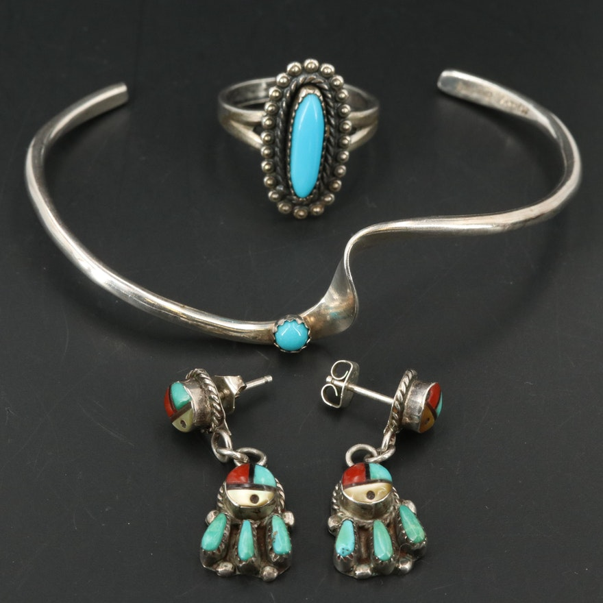 Southwestern Sterling Jewelry Featuring G. Skeets and Bell Trading Post