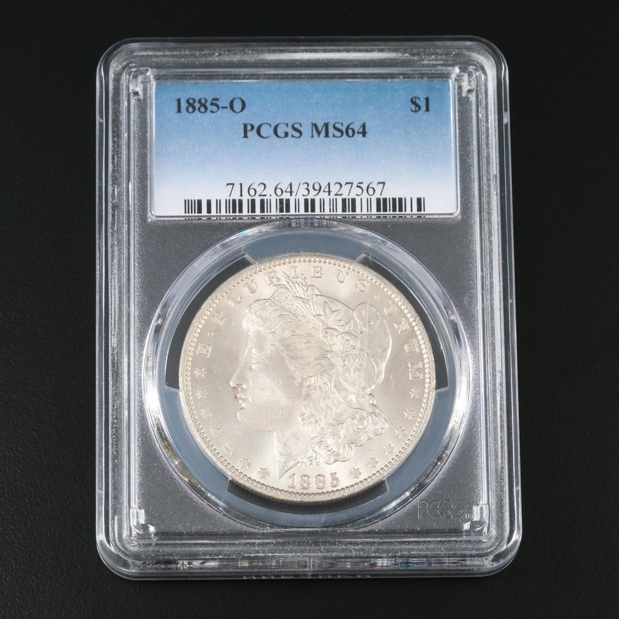 PCGS Graded MS64 1885-O Morgan Silver Dollar