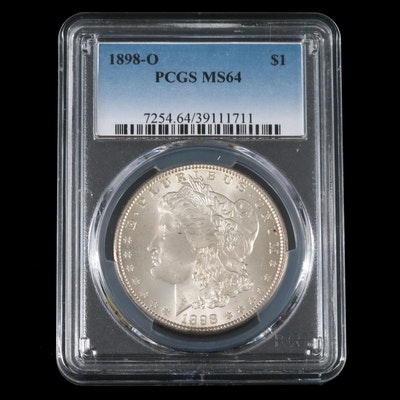 PCGS Graded MS64 1898-O Morgan Silver Dollar