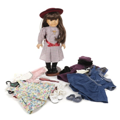 American Girl Doll Samantha Parkington With Clothing And Accessories