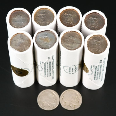 Eight Rolls of Uncirculated 2006 Jefferson Nickels