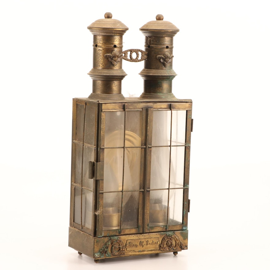 Star of India Electric Brass Ship Lantern, Early 20th Century
