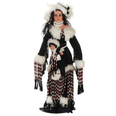 """Donna RuBert & Rustie """"Moon Dance and Lil' Spirit"""" Limited Edition Dolls"""