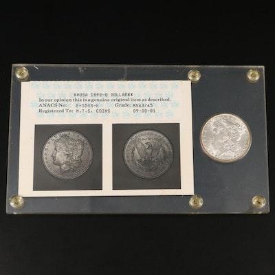ANACS Graded MS63 1898-O Morgan Silver Dollar