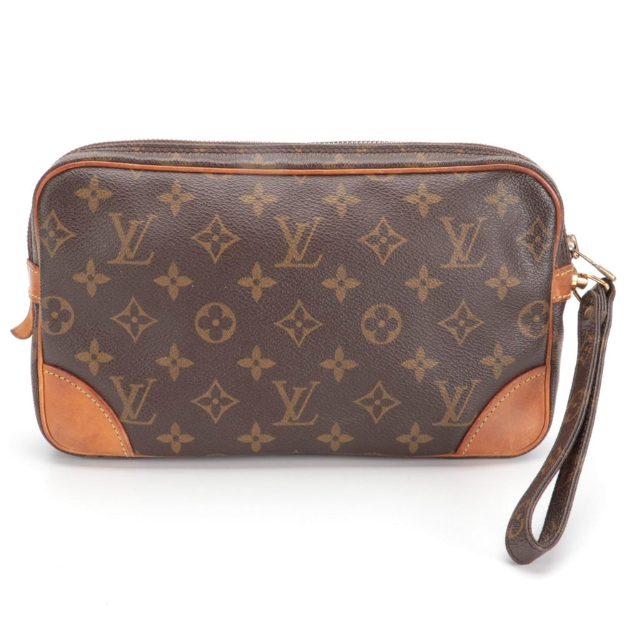 Louis Vuitton Marly Dragonne MM in Monogram Canvas and Vachetta Leather