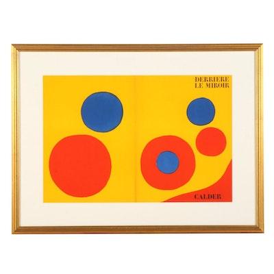 """Alexander Calder Color Lithograph Cover for """"Derrière le Miroir,"""" 1973"""