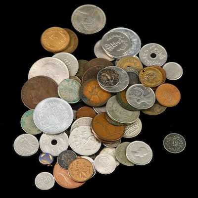 Foreign Coin Assortment, 20th Century