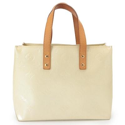 Louis Vuitton Reade PM Bag in Perle Monogram Vernis