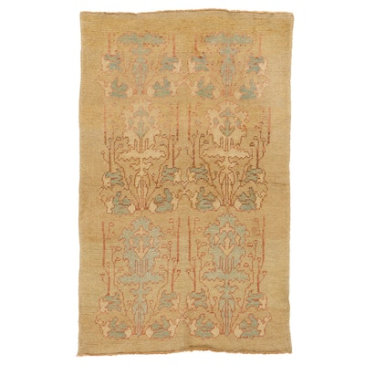 4'3 x 6'9 Hand-Knotted Turkish Donegal Area Rug