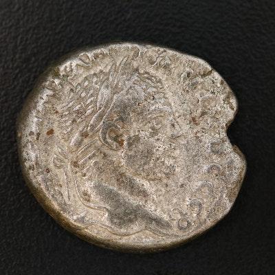 Ancient Roman AR Tetradrachm of Emperor Caracalla, Antioch, ca. 198–217 AD
