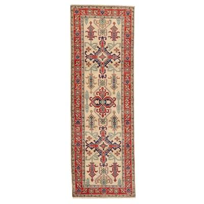 2'8 x 8'1 Hand-Knotted Afghan Kazak Carpet Runner