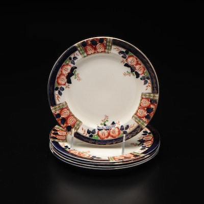 """Thomas Hughes """"Windsor Derby"""" Hand Decorated Plate Set"""