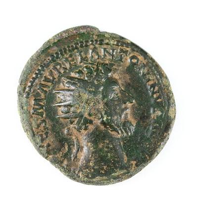 Ancient Roman AE Dupondius of Marcus Aurelius, ca. 161–180 AD