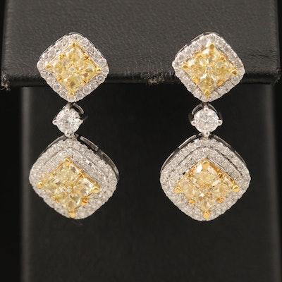 Damas 18K 3.60 CTW Diamond Earrings