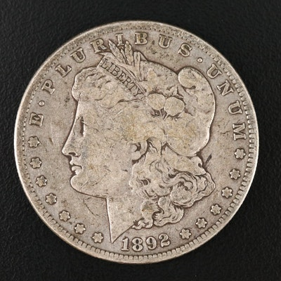 Key Date 1892-S Morgan Silver Dollar