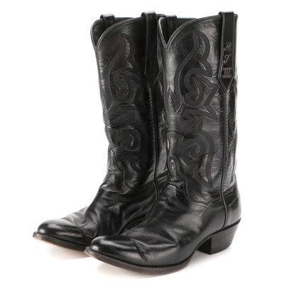 J. B. Hill Handmade Black Leather Western Boots