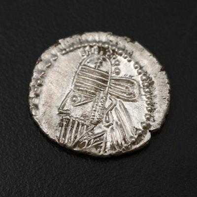 Ancient Parthian Kingdom AR Drachm Coin of Osroes II, ca. 190 AD