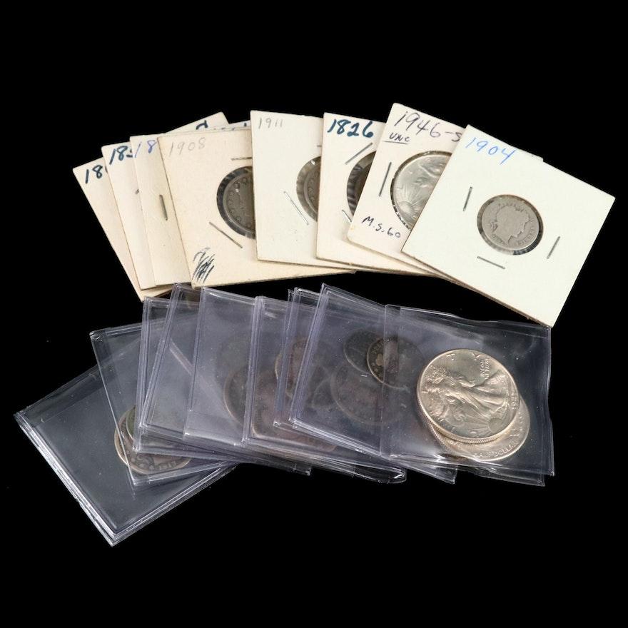 Assortment of Antique U.S. Coins, Including Silver
