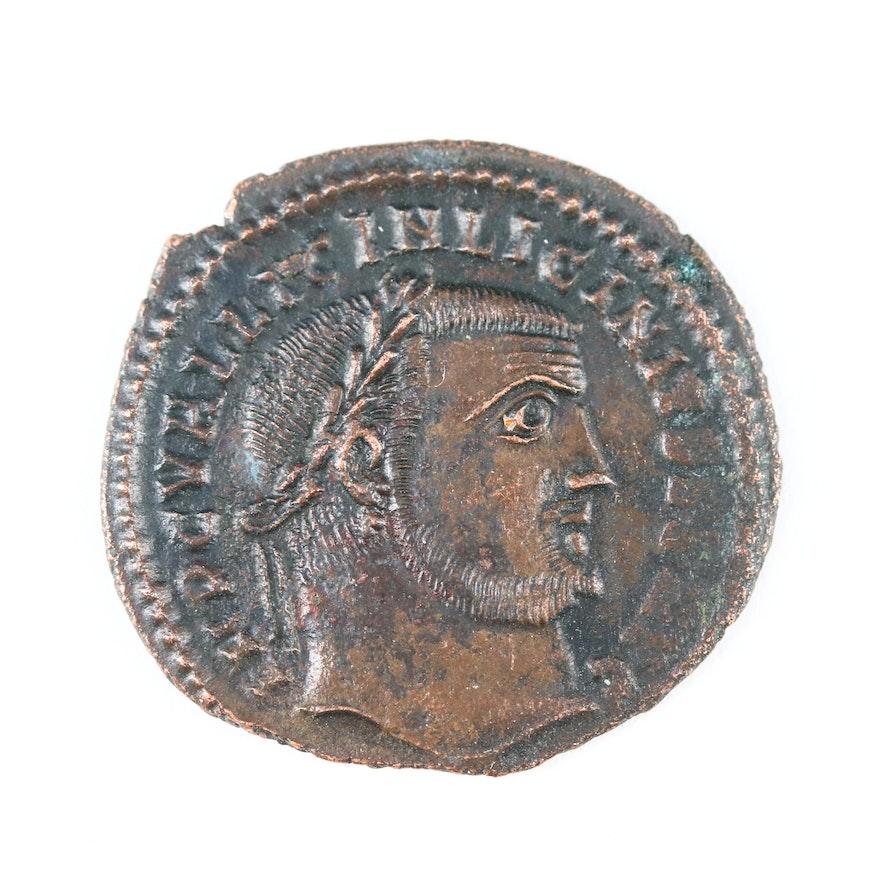 Ancient Roman AE Follis of Licinius I, Thessalonica Mint, 308–324 AD
