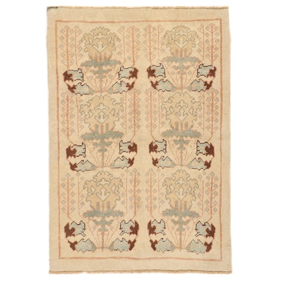 4'4 x 6'4 Hand-Knotted Turkish Donegal Area Rug