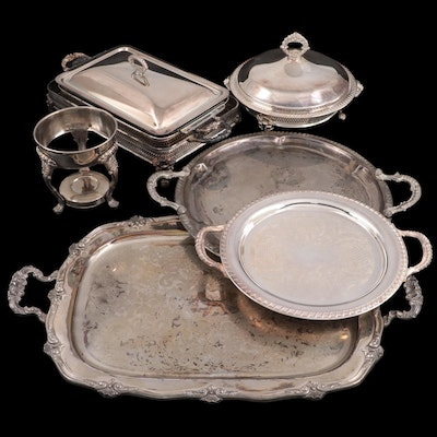 Sheffield Silver Co. Silver Plate Serving Dish and Other Silver Plate Serveware