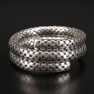 "John Hardy ""Dot"" Double Coil Sterling Bracelet"