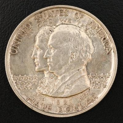 Low Mintage 1921 Alabama State Centennial Silver Half Dollar